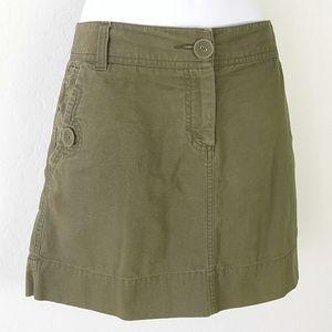 ELLE Khaki Denim Jean Skirt Size 12